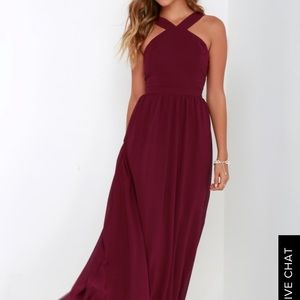 Lulus Maroon Formal Dress